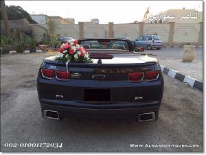 تأجير شيفرولية كمارو للزفاف في مصر
